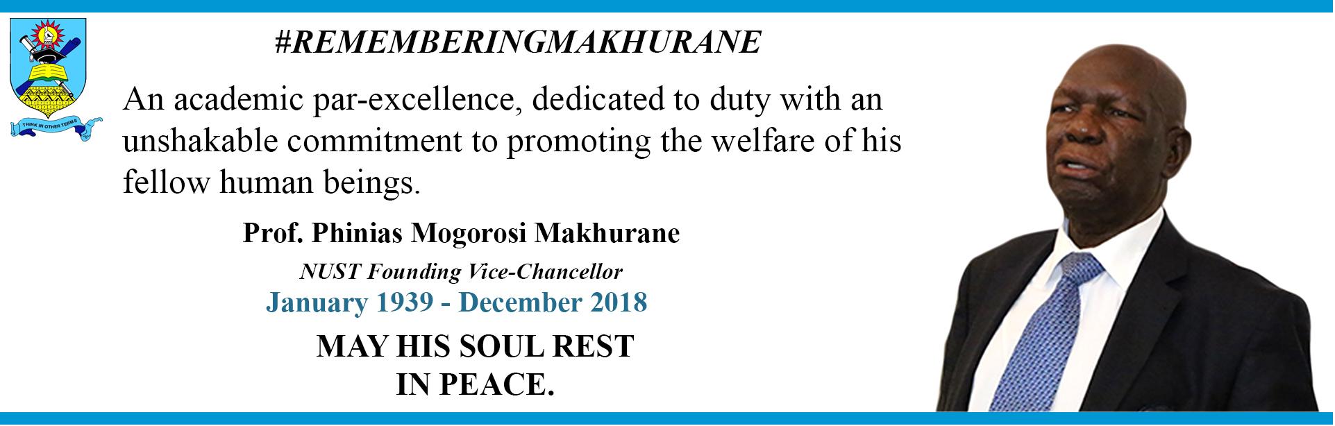 Honouring Prof  P  M  Makhurane